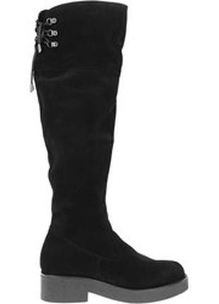 Зимние сапоги женские ботфорты gama премиум качество