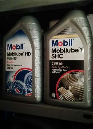 Трансмиссионное масло Mobil Mobilube 1 SHC 75W-90, HD 80w-90