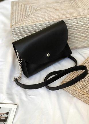 Сумка 2в1 черная поясная сумка - клатч
