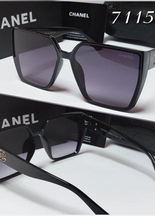 Женские солнцезащитные очки  геометрия классика черные