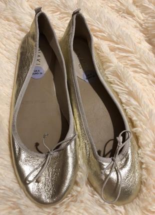 Легусинькие золотистые балеринки от anaki paris