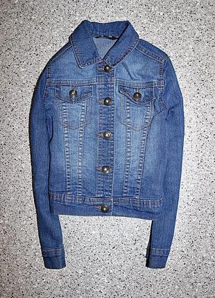 Джинсовая куртка джинсовка одежда 5-6 лет