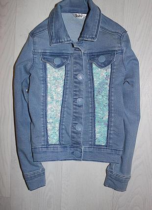 Джинсовая куртка джинсовка 5-6 лет