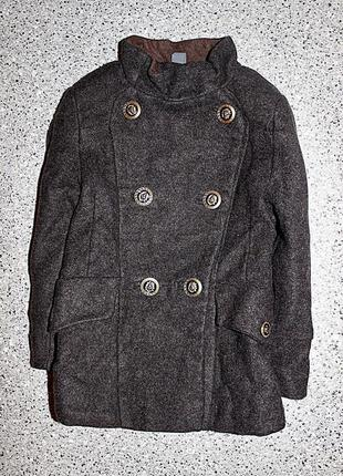 Шерстяное пальто zara 3-4 года