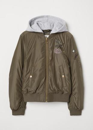 Бомбер куртка демисезон h&m
