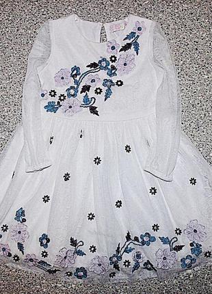 Платье с вышивкой 1-2 года