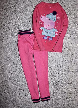 Набор 4-5 лет штаны и свитшот на байке пеппа пиг