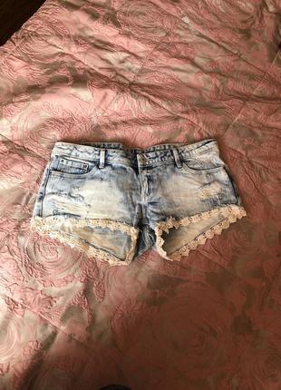 Джинсовые шорты tally weijl