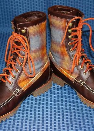 Ботинки timberland authentics 8-inch rugged handsewn. оригинал...