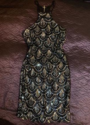 Платье сукня блестящая паетки блестки новый год серебро 2020 н...