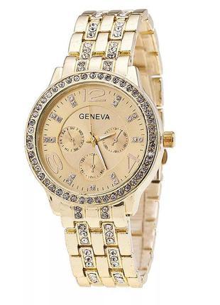 Часы женские наручные золотистые