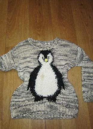 Меланжевый свитер на 10-11 лет