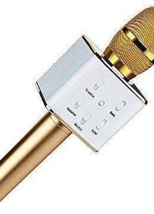 КАРАОКЕ Микрофон Q7 беспроводной с динамиком и USB входом BLUE...