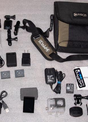 GoPro HERO3+ Black Edition + аксессуары LCD пульт сумка - ЧИТАЕМ!