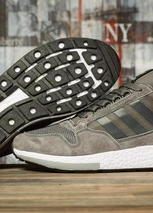 Мужские кроссовки серые  adidas адидас