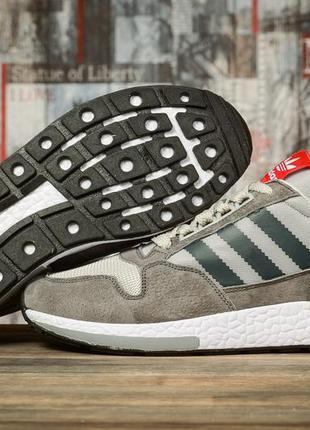 Мужские кроссовки adidas адидас серые