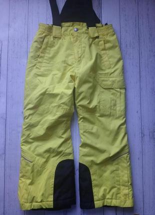 Лыжные штаны полукомбинезон зимний
