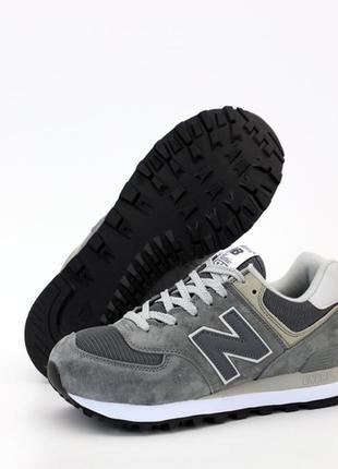 Мужские серые кроссовки нью баланс/беленс new balance