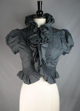 Noa noa красивая стильная хлопковая блуза болеро жакет с объем...