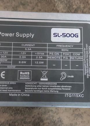 Блок питания 500W SL-500G Switching Power Supply