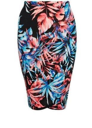 Яркая сочная юбка-карандаш new look 14-16 размер