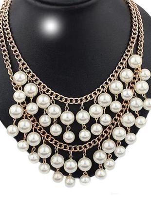 Стильное жемчужное ожерелье