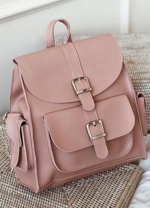 Объемный рюкзак с эко кожи