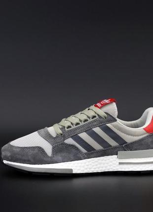 Adidas zx 500 grey white red