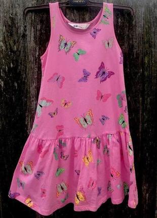 Летнее платье h&m для девочки 6/8 на рост 122-128 см