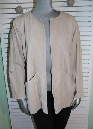 Замшевая куртка пиджак esprit