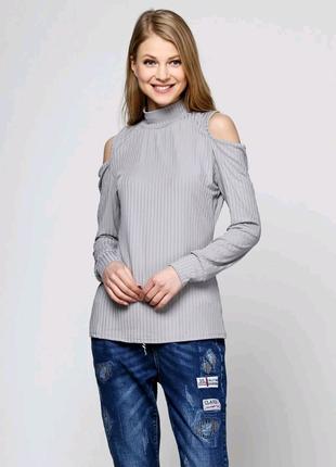 Кофта женская с открытыми плечами