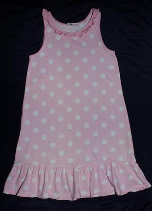Летнее платье нм для девочки 6-8 лет на рост 122-128 см