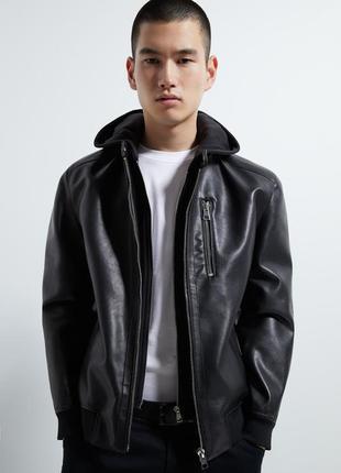 Куртка-бомбер с капюшоном zara