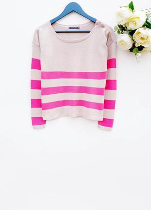 Красивый свитер в полоску полосатый джемпер