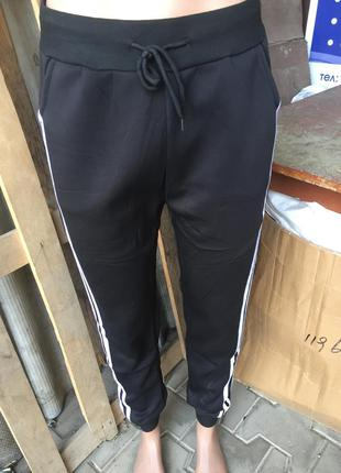 Спортивные штаны с лампасами на манжетах размеры л, хл, ххл