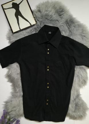 Мужская рубашка тенниска чёрная versace оригинал брендовая руб...