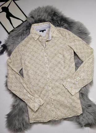 Мужская рубашка tommy hilfiger оригинал принт