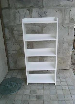 Белая этажерка из ДСП. Новая.