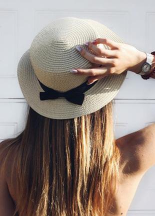 13-68 канотье шляпа женская летняя от солнца шляпка панамка пл...