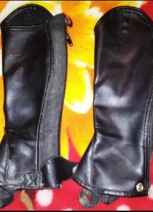 Подростковые кожаные гамаши для конного спорта