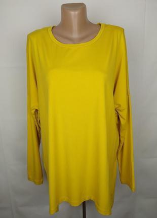 Блуза туника желтая модная комбинированная шелк оригинал cos m