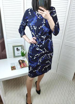 Платье-миди со сборкой сбоку m&s, p-p uk 10/м