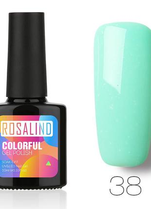 Гель лак 10 мл rosalind 38 салатовый бледный эмаль probeauty