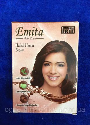 """Хна индийская для окрашивания волос Эмита """"Emita"""" - Коричневый"""