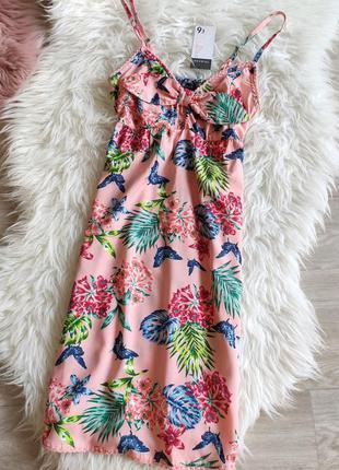 Новое легкое цветочное платье primark