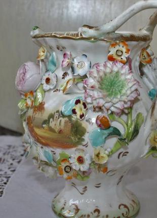 Старинная большая ваза фарфор под реставрацию красавица!