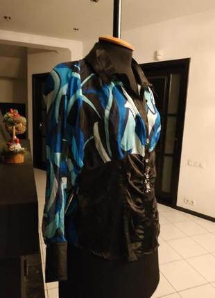 Блуза из натурального шелка с декором