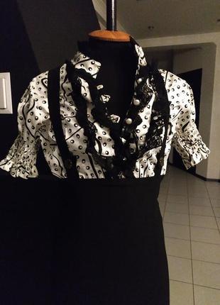 Двойное платье рубашка воротник стойка с подтяжками
