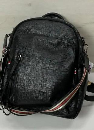 Женский кожаный рюкщак портфель шкіряний сумка кожаная