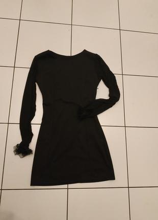 Маленькое чёрное платье рукав сетка италия